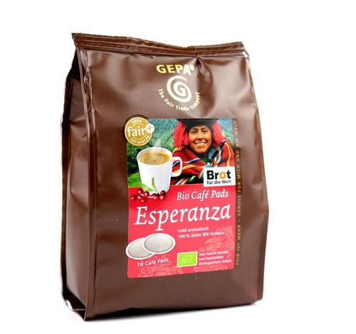 BIO Kaffee Pads Esperanza  Mexiko Fair Trade