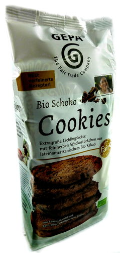 BIO Schoko Cookies Mürbegebäck Fair Trade