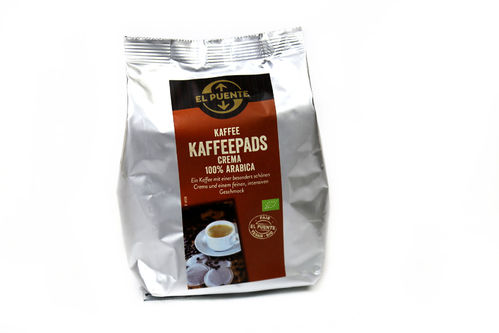 BIO Kaffee Pads Crema 100% Arabica Fair Trade