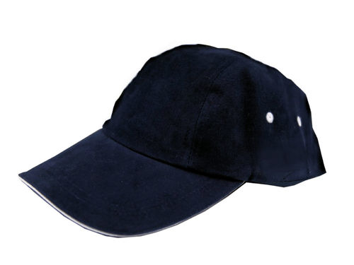 Herren 4-Panel Sports Cap Blau Weiß