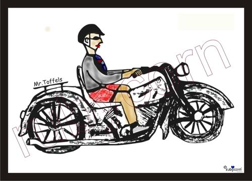 Kalender 2019 Mr. Toffels Biker 210x148 mm