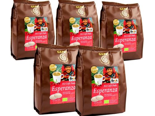 BIO Kaffee Pads Esperanza  Mexiko 5er Set Fair Trade