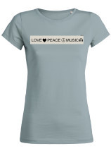 Damen TShirt love peace music - rubycorn Kollektion