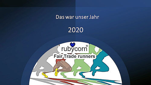 rubycorn FairTrade runners - unsere Ergebnisse in 2020 - YouTube Video